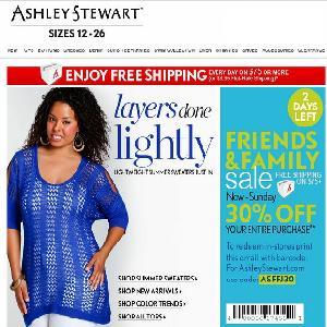 Ashley stewart clothing coupons